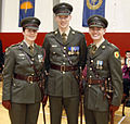 Three previously serving newly Comissioned Officers (5517227770).jpg