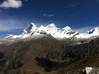 Huascarán National Park - Huandoy, one of the most popular mountains inside the park.