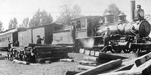 Tidewater and Western Railroad - Image: Tidewater and Western Engine at Bermuda Hundred