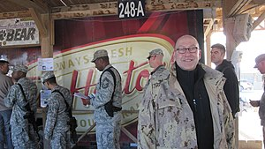 English: Tim Horton's opened a franchise in Af...
