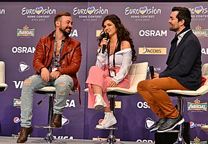 Switzerland in the Eurovision Song Contest 2017 - Timebelle during a press meet and greet