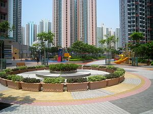 Public housing estates in Tin Shui Wai - Open space in Tin Ching Estate Phase 1