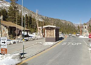 California State Route 120 - Tioga Pass Entrance Station