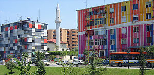 Edi Rama - Colorful buildings in Tirana.