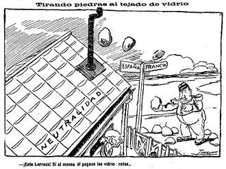 Alejandro Lerroux - Lerroux, by Tovar, in El Imparcial.