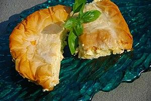 Tiropita - Image: Tiropita Greek dish