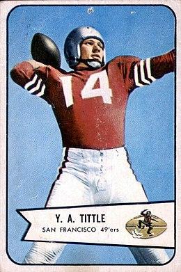 Tittle 1954 Bowman