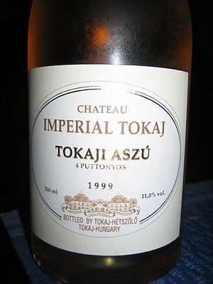 A rare sweet wine from Hungary.
