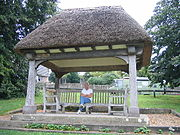 The shelter erected as a memorial in 1934.