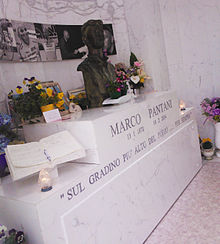 La tomba di Marco Pantani a Cesenatico, Emilia-Romagna