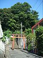 Torii (鳥居) at Higashiyama-Fuji Inari Shrine (東山藤稲荷神社) - panoramio.jpg
