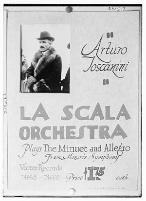 English: Toscanini early record.