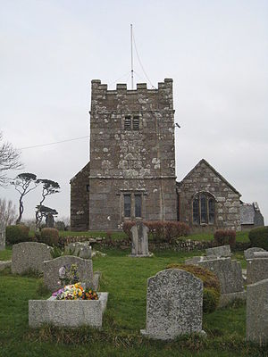 Towednack - Image: Towednack Church geograph.org.uk 1107775