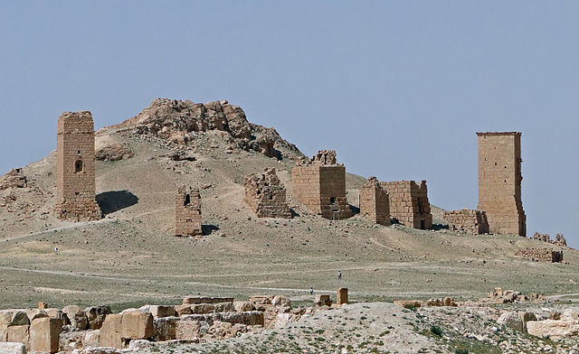 Palmyra Tower Tombs by Bernard Gagnon (Wikimedia)