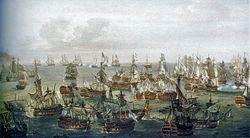Trafalgar Battle, situation at 17h