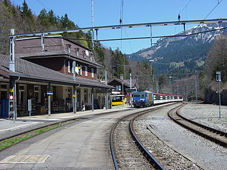 Hasliberg - Brünig-Hasliberg rail road station