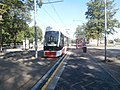 Tram 516 at Sitsi tram stop Kopli tn Tallinn 8 July 2018.jpg