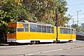 Tram in Sofia in front of Tram depot Banishora 001.jpg