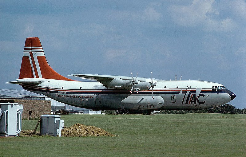 File:Transmeridian Air Cargo Short Belfast at Stansted - 1979.jpg
