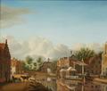 Trekschuiten bij de Marepoort te Leiden.png