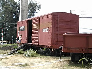 Battle of Santa Clara - The armored train, today a museum.