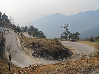 Gaur, Nepal - Another view of the highway