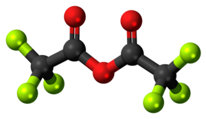 Trifluoroacetic anhydride - Image: Trifluoroacetic anhydride 3D balls