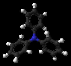 Triphenylamine - Image: Triphenylamine A 3D balls