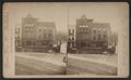 Trojan hooks. (Showing a fire ladder in front of Curley's hotel and restaurant.), from Robert N. Dennis collection of stereoscopic views.png