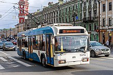 Trolleybus BKM-321 on Nevsky Avenue (img2).jpg