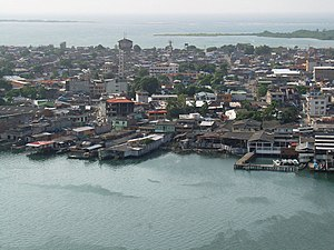 Section of Tumaco from the air