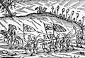 Turks taking away Christian slaves, drawing S. Schweigger 1639.jpg