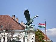 Turul and Hungarian flag