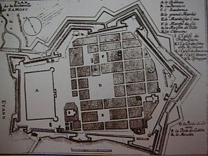 Zamość Fortress - Plan from mid-17th century