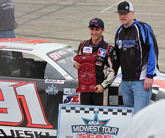 ARCA Midwest Tour - ARCA Midwest Tour owner Gregg McKarns with Ty Majeski