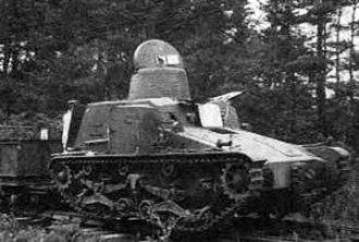 Type 95 So-Ki - Image: Type 95 So Ki with cars