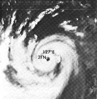 1977 Pacific typhoon season - Image: Typhoon Babe