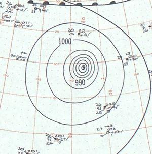 Typhoon Vera - Image: Typhoon Vera analysis 23 Sep 1959