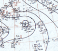 Typhoon Viola August 21, 1966 surface analysis.png