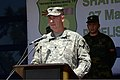 U.S. Army Lt. Col. Jeffrey Cantor, with the 353rd Civil Affairs Command and the codirector for Shared Resilience 2013, speaks during the opening ceremony for Shared Resilience 2013 in Pepeliste, Macedonia 130528-A-BD830-006.jpg