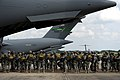 U.S. Army paratroopers with the 1st Brigade Combat Team, 82nd Airborne Division board an Air Force C-17 Globemaster III aircraft for airborne operations June 27, 2013, during Joint Operational Access Exercise 130627-F-GO452-129.jpg