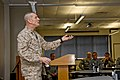 U.S. Marine Corps Sgt. Maj. Bryan B. Battaglia, the senior enlisted adviser to the chairman of the Joint Chiefs of Staff, speaks to U.S. Soldiers and Airmen with the Illinois National Guard at the 182nd Airlift 130406-Z-EU280-046.jpg