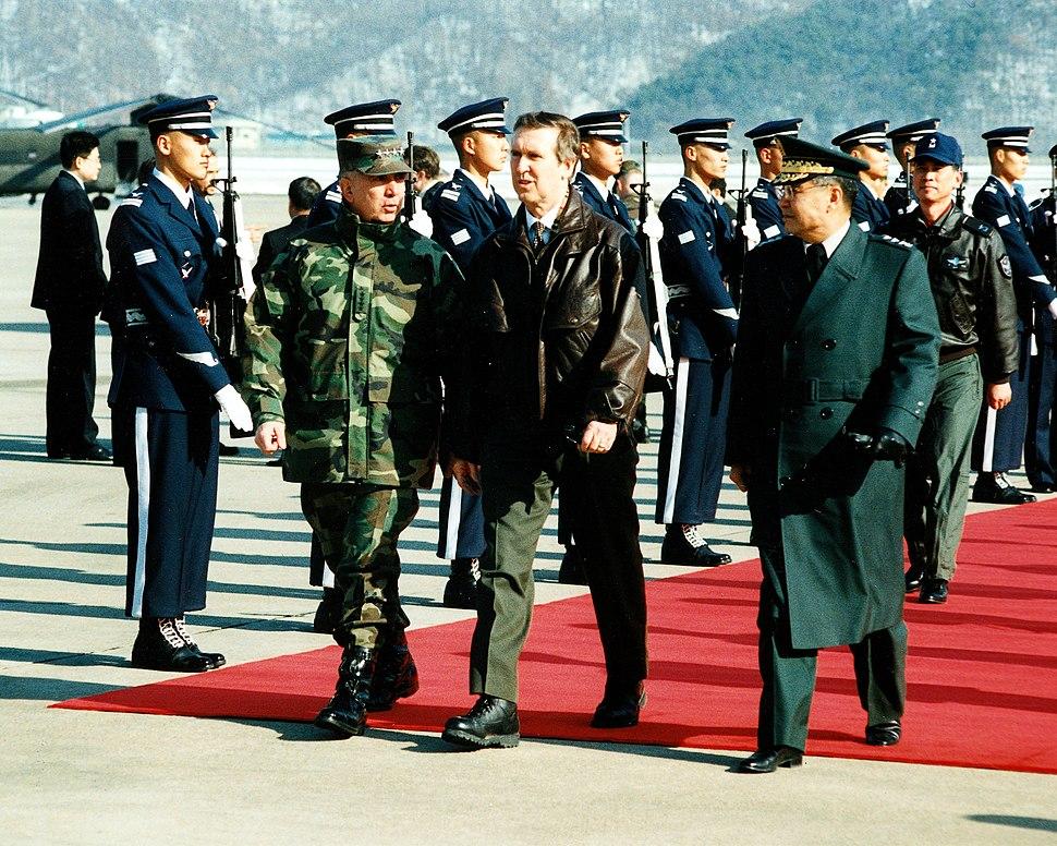 U.S. Secretary of Defense William Cohen in South Korea, January 1998
