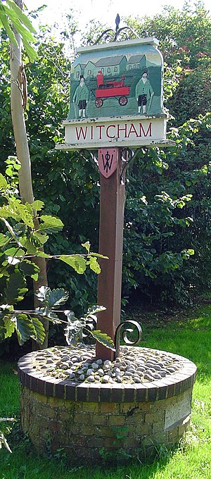 Witcham - Signpost in Witcham