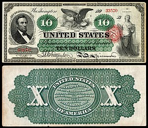 United States ten-dollar bill - 1863 $10 Legal Tender note
