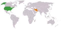 Lage von USA und Iran