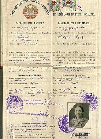 Russian passport - Soviet external passport 1929