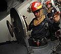 USS Bataan conducts a general quarters drill. (13469207854).jpg