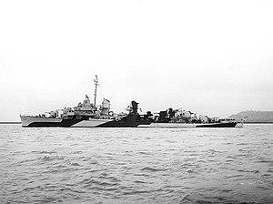 USS Bush (DD-529) off the Mare Island Naval Shipyard, California (USA), on 11 June 1944 (NH 98928)