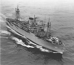 USS George Clymer (APA-27) underway.jpg